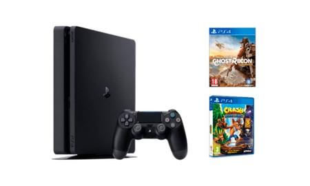 Esta mañana, puedes estrenar PS4 Slim de 1 TB con Ghost Recon Wildlands y Crash Bandicoot NSane Trilogy por 295 euros en Mediamarkt