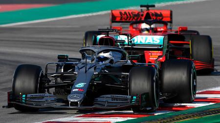 Bottas Vettel Barcelona F1 2020