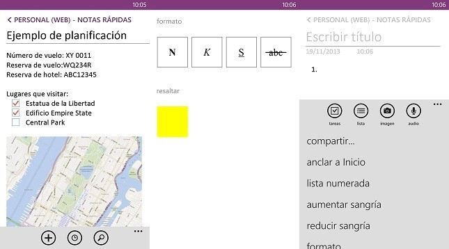 OneNote Windows Phone