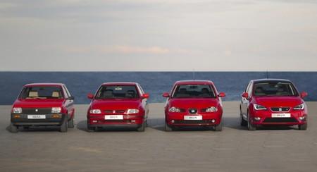 Seat Ibiza las cuatro generaciones 1984-2014
