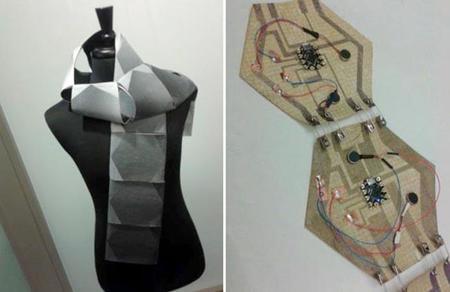 La bufanda con calefacción integrada y preparada para las notificaciones de nuestro teléfono