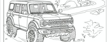 ¿No puedes esperar a tener tu Ford Bronco? Bueno, aquí hay unos dibujos para que te vayas preparando
