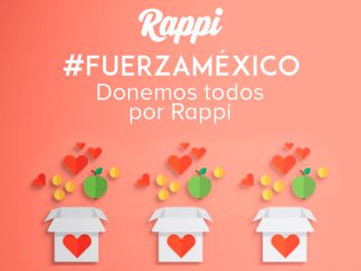 Rappi promueve donaciones para ayudar a los damnificados por el terremoto de México