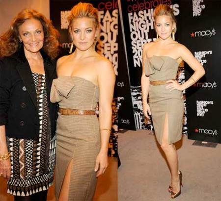 Kate Hudson fantástica en la Fashion Night Out de Nueva York
