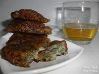 Tortitas de algas nori con cebolla confitada. Receta