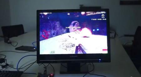 Raspberry Pi running Quake 3