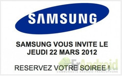 Invitación Samsung