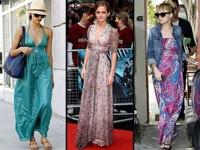 Vestidos largos: el comodín del verano que las celebrities no se quitan