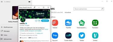 Cómo abrir apps Android en la pantalla de un ordenador Windows con la app Tu Teléfono