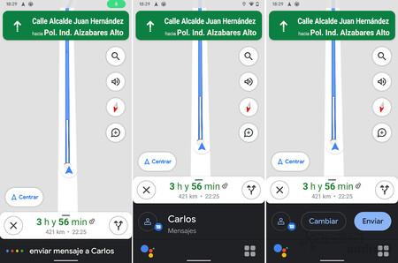 Modo Conducción Asistente Google