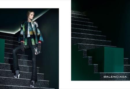 Balenciaga, campaña Primavera-Verano 2009 con Hanne-Gaby Odiele