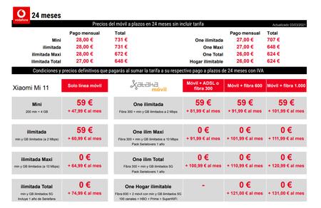Precios Xiaomi Mi 11 Con Pago A Plazos Y Tarifas Vodafone