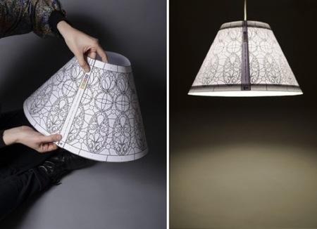 Las lámparas Tiffany reinterpretadas, ahora en papel