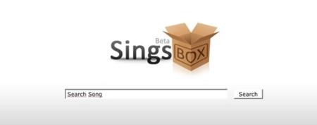 SingsBox, otro sencillo buscador de temas musicales