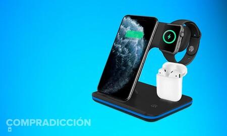 Cargar tus iPhone, Watch y AirPods de Apple a la vez cuesta muy poco con esta base de carga rebajada hoy en Amazon a 23 euros