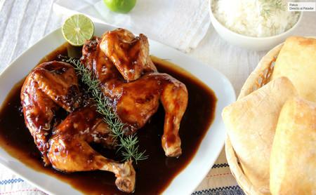 pollo con coca cola y soja
