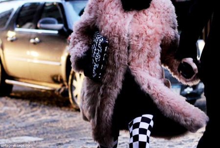 Abrigo rosa fuzzy