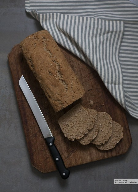 Pan de molde integral de avena. Receta