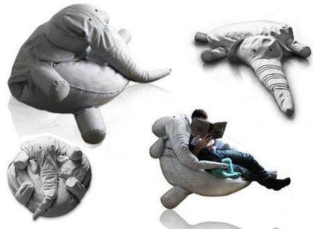 Tantooo, puf gigante con forma de elefante