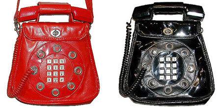 Bolso estilo teléfono de los 70