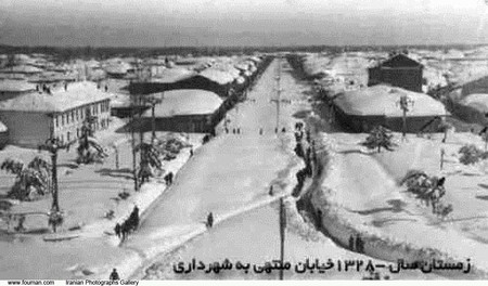 Rasht Snow Winter 1950