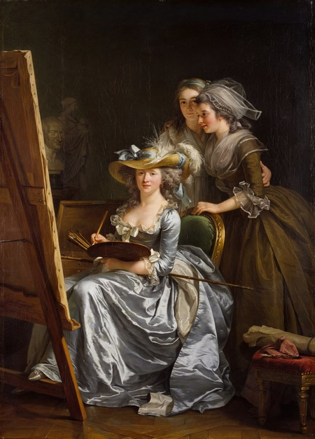 Labille Guiard Self Portrait With Two Pupils