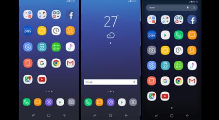 Así sería el diseño de la interfaz y los iconos del Galaxy S8