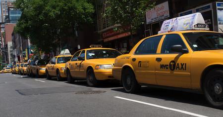 Taxistas parados