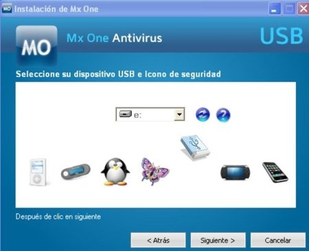 MX One instalación usb