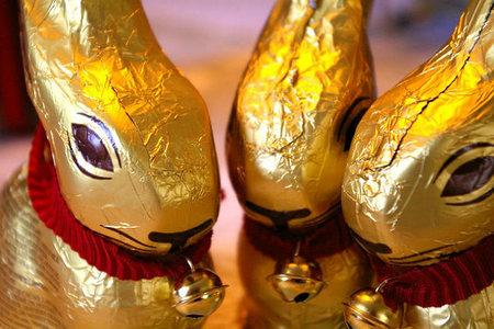 Conejos de chocolate de Pascua