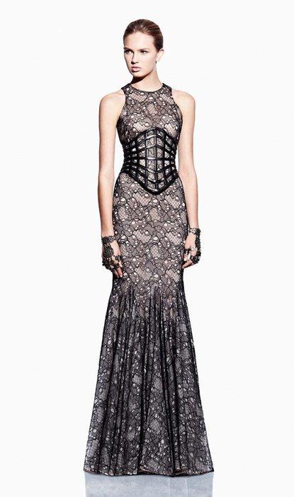 Vestido Alexander McQueen lookbook Primavera-Verano 2012