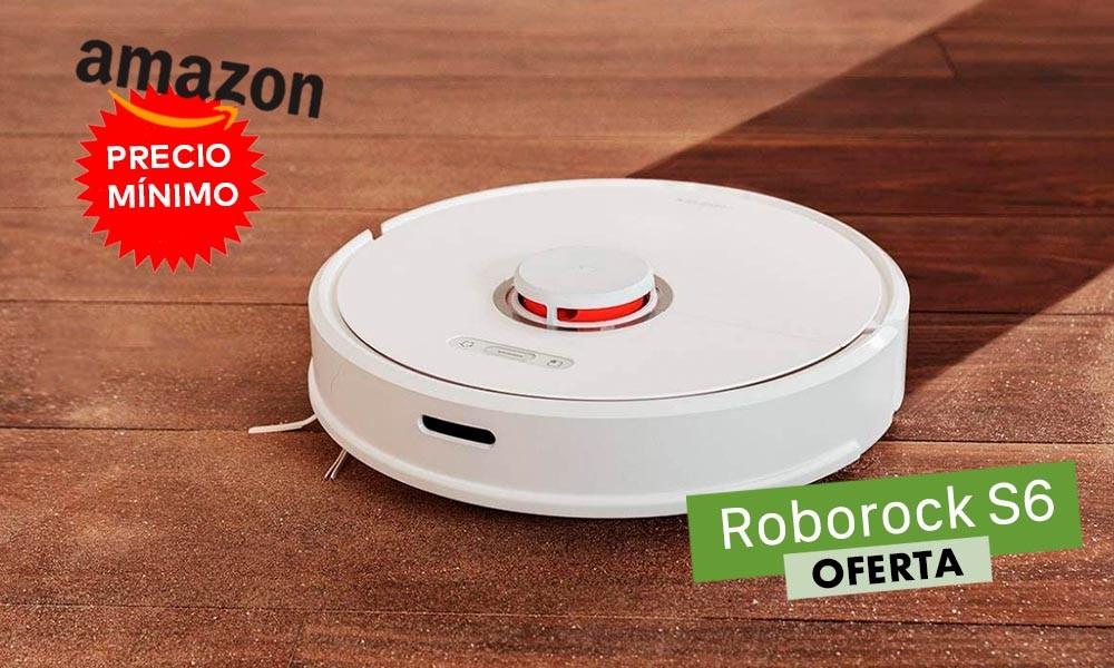 Sólo hoy, precio mínimo en Amazon para el robot aspirador Roborock S6: lo tienes por 399 euros con 100 de rebaja
