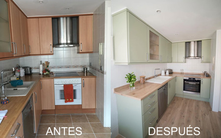 El Antes y Después de una cocina sin obras para actualizarla y ganar en estilo
