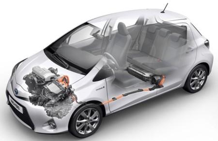 Toyota Yaris Híbrido dibujo técnico