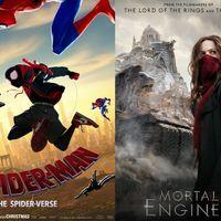 El Spider-verso animado triunfa en taquilla, Peter Jackson se estrella con 'Mortal Engines'