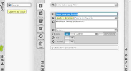 Smthngs, un gestor de tareas para trabajar según el método GTD