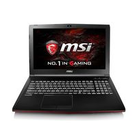 Portátil gaming MSI GP62, con el potente Intel Core i7-7700HQ y 8GB de RAM, por 899 euros