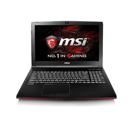 Portátil gaming MSI GP62, con el potente Intel Core i7-7700HQ y 8GB de RAM, por 899 euros
