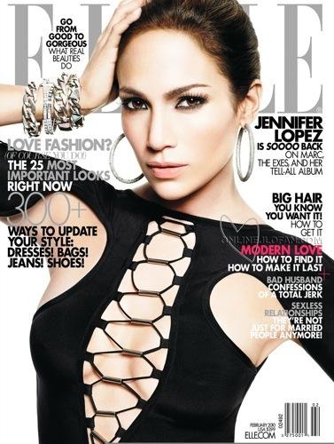 Jennifer Lopez en la portada de Elle: un estilo aburrido