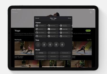 tipos de ejercicios Apple fitness+