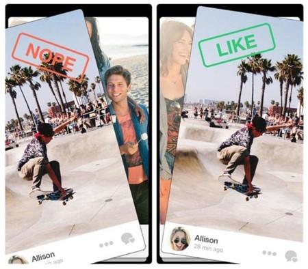 Tinder pretende «engancharnos» con una prestación para compartir fotos al estilo de Snapchat