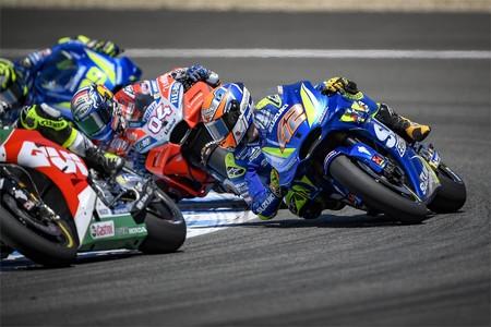 Alex Rins Andrea Dovizioso Andrea Iannone Gp Espana Motogp 2018