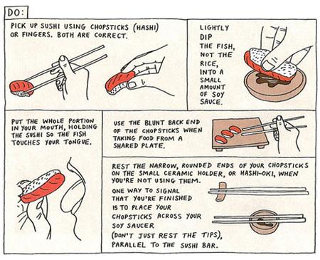guía de estilo para comer sushi - do