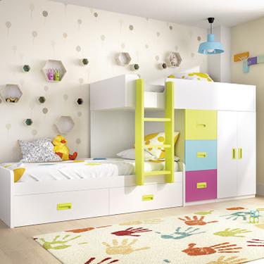 Tres formas de utilizar los colores en un dormitorio infantil para cambiar la percepción del espacio