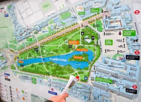 Plano de St James Park Londres
