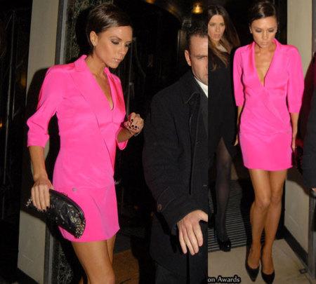 El look rosa de Victoria Beckham