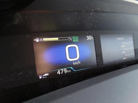 Velocidad Prueba Toyota Prius 2016 Detalles Interiores