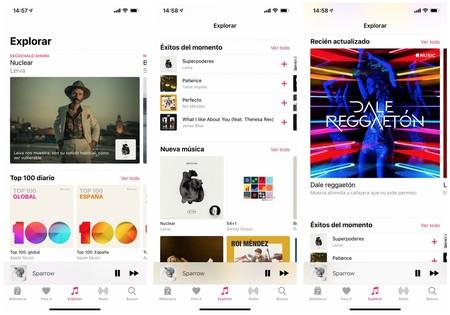 Apple Music simplifica su interfaz para agilizar la navegación entre sus playlists