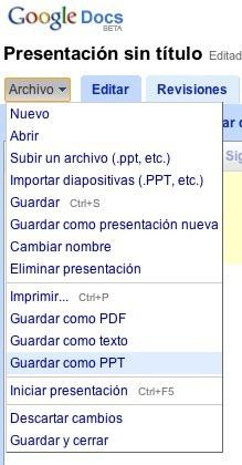Google Docs ahora permite guardar las presentaciones en formato PowerPoint (PPT)
