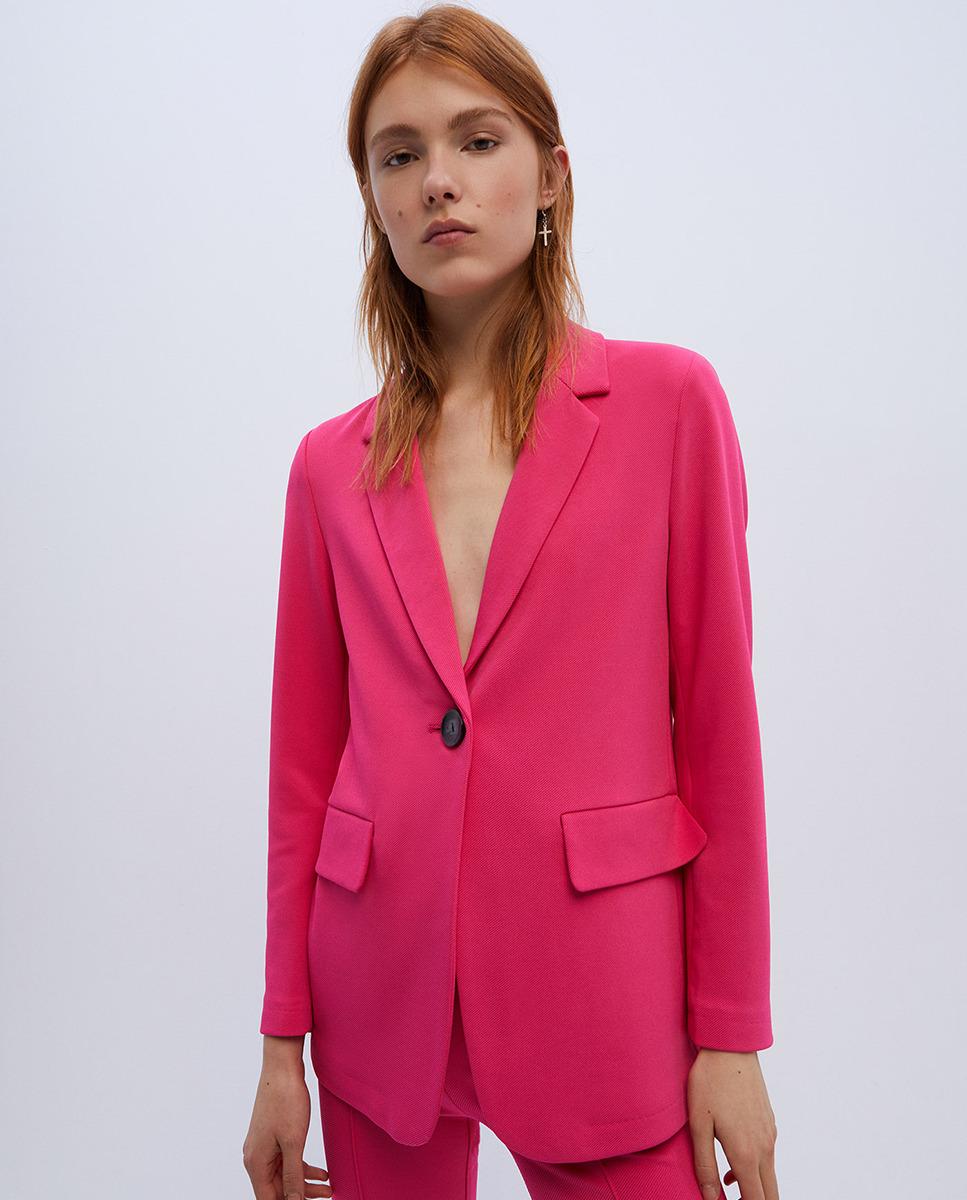 Easy Wear Blazer de mujer cierre 1 botón